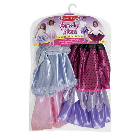 Melissa & Doug 4 Style Goodie Tutus Dress-Up Skirts, Role Play Collection