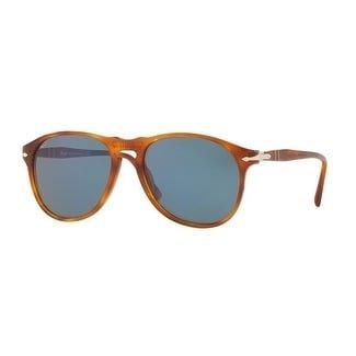 Persol Mens's PO6649S 96/56 55 Light Blue Aviator Sunglasses