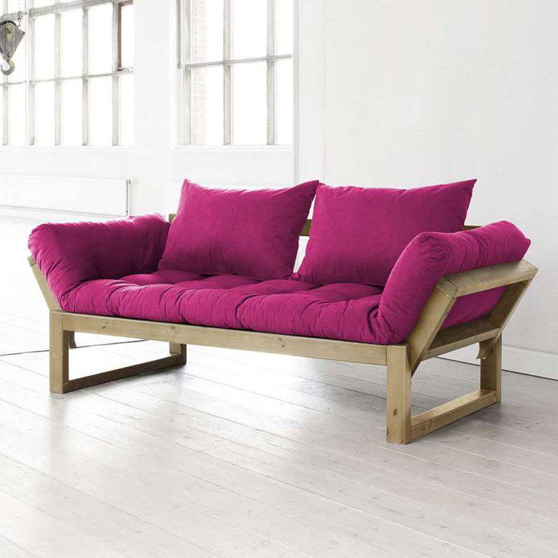 Fresh Futon Edge Natural Wood Convertible Futon Sofa