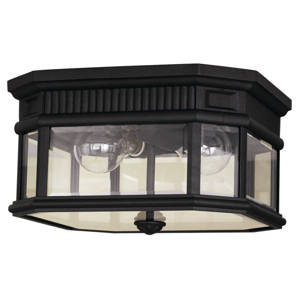 Feiss 2 -light Cotswold Lane Ceiling Fixture in Black by Overstock