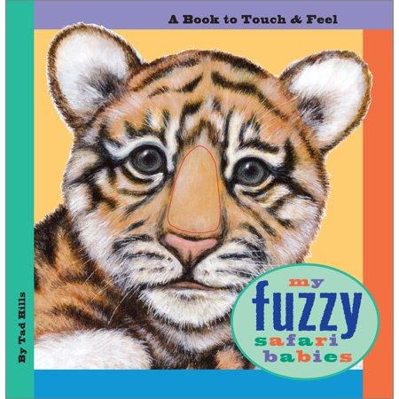 My Fuzzy Safari Babies a Book to Touch a (Board Book) - Toddler Funny
