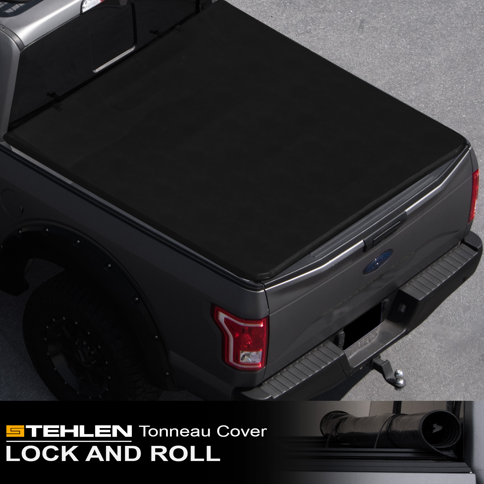 "Stehlen 714937188853 Lock & Roll-Up Soft Style Truck Bed Tonneau Cover For 02-08 Dodge Ram 1500 ; 03-09 2500 / 3500 6.5 Feet ( 78"" ) Short Bed"