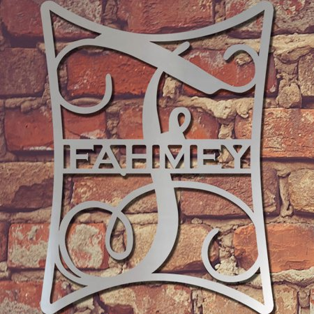 Elegance Single Letter Metal Monogram And Family Name Wall Decor 24 F Instructions Below In Description