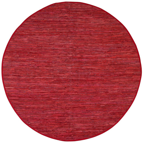 St. Croix Matador Red Leather Chindi Rug