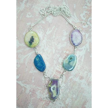 LAMINATED POSTER Solar Quartz Necklace Jewelry Drusy Quartz Druzy Poster Print 24 x 36 ()