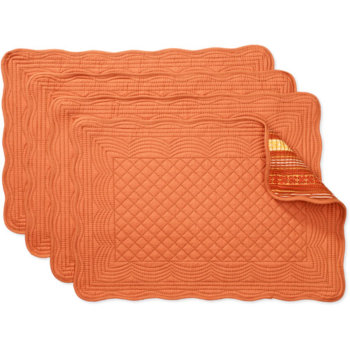 Better Homes and Gardens Reversible Quilted Placemats, Set of 4