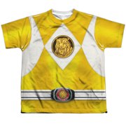 Power Rangers - Yellow Ranger Emblem - Youth Short Sleeve Shirt - X-Large