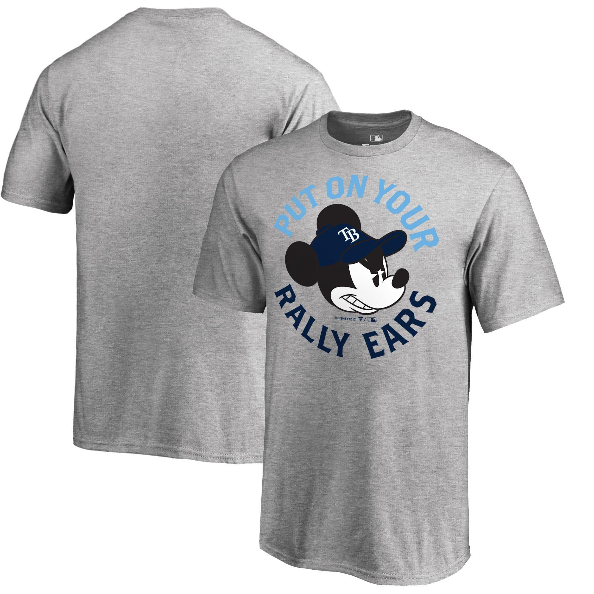 Tampa Bay Rays Fanatics Branded Youth Disney Rally Ears T-Shirt - Heathered Gray