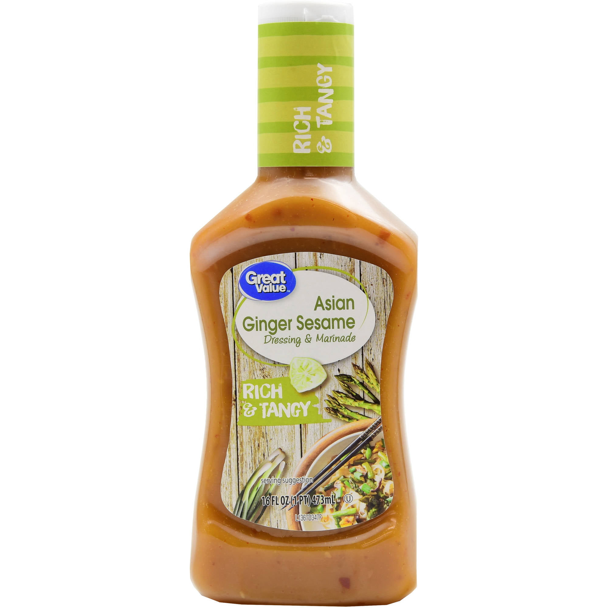 Great Value Asian Ginger Sesame Dressing Marinade 16 Fl Oz Walmart Com Walmart Com