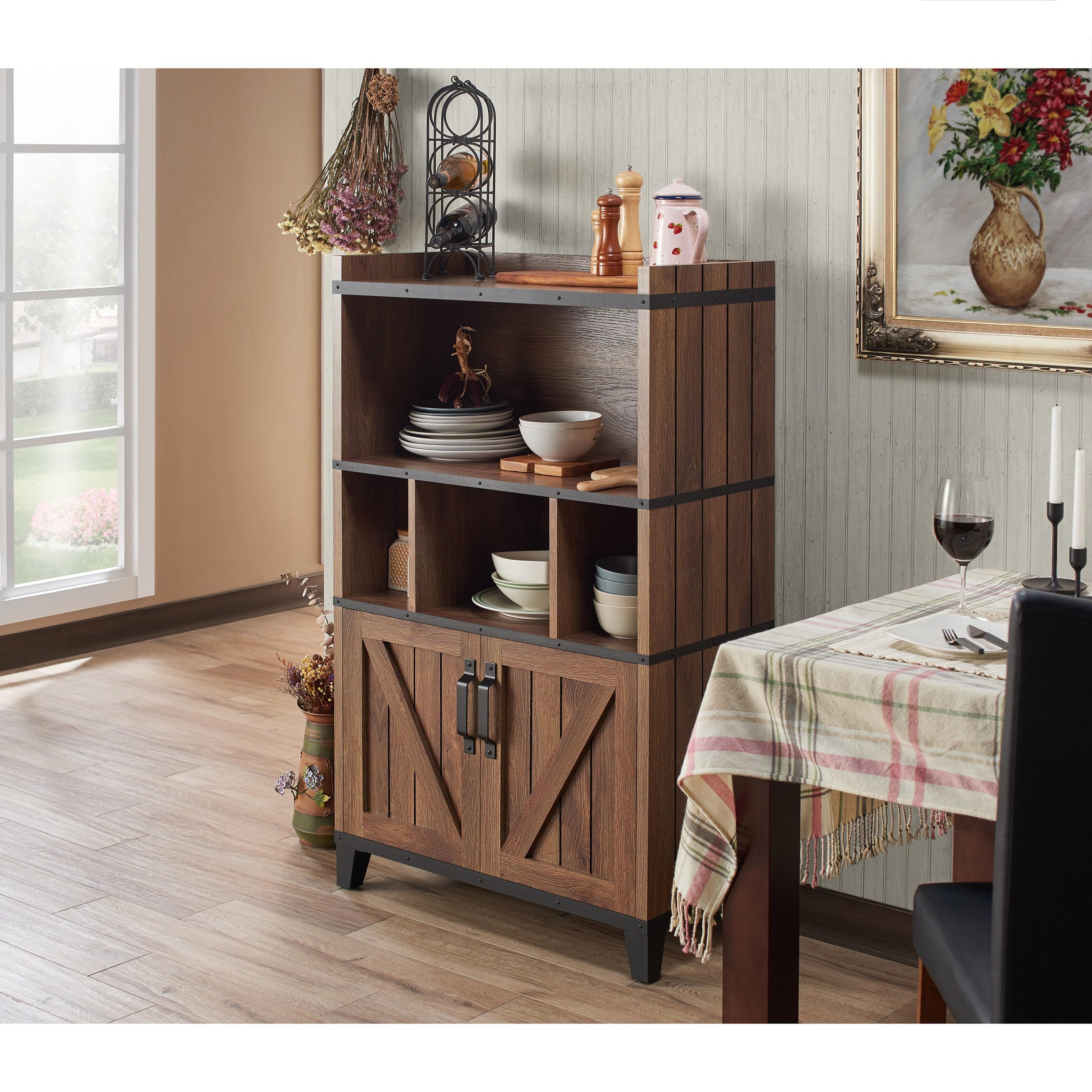 Furniture Of America Gern Rustic Walnut
