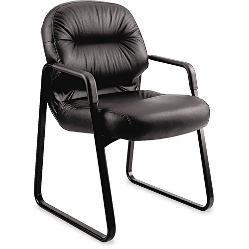 HON Leather 2090 Pillow-Soft Series Guest Arm Chair