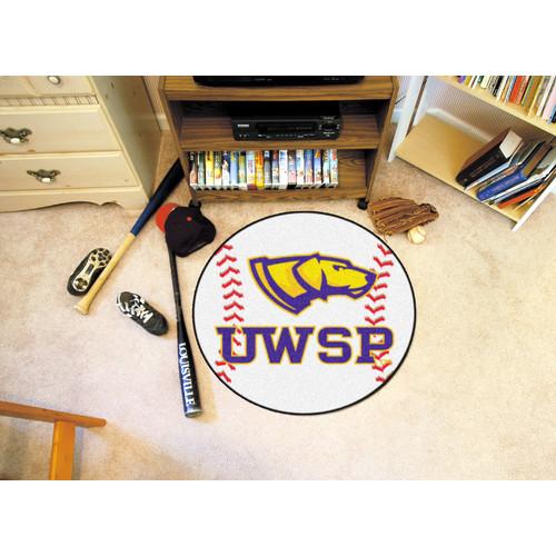Wisconsin-Stevens Point Baseball Rug