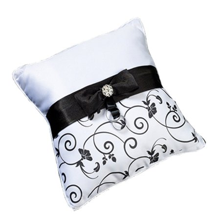 Lillian Rose Satin Ring Bearer Pillow With Bow And Rhinestones