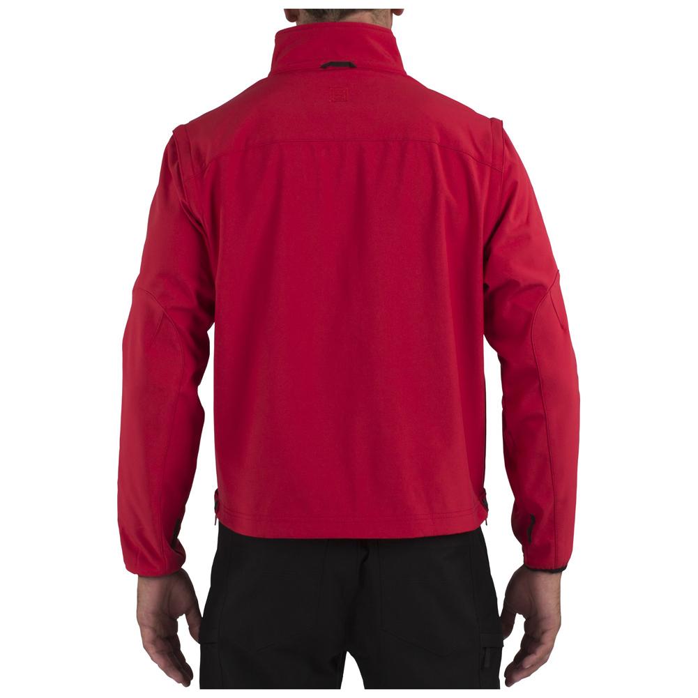 5.11 Men's Valiant Soft Shell Jacket, Ranger Red, Small