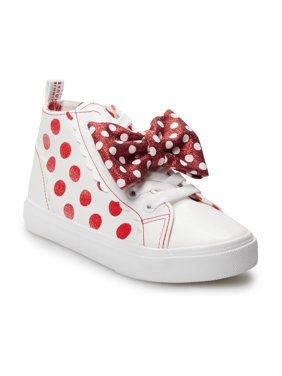 Minnie Mouse Classic Polka Dot Bow High-Top Sneakers (Little Girls & Big Girls)