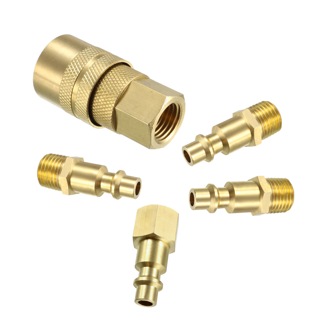 "5 Pack 1//4/"" Female NPT Air Compressor Hose Quick Coupler Plug Industrial Plugs"