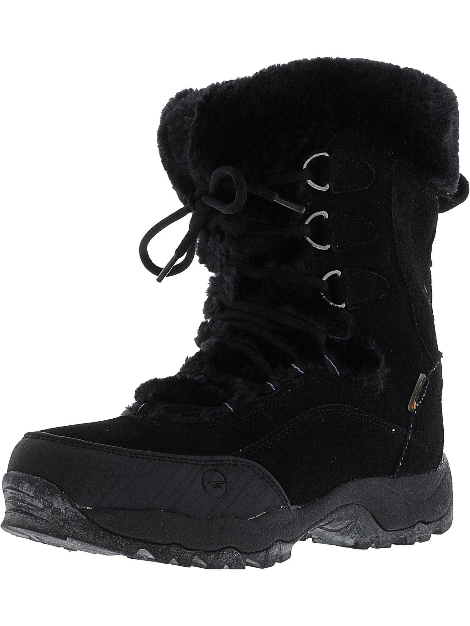 Hi-Tec Women's St.Mortitz 200 Waterproof Ii Black   Clover Mid-Calf Suede Snow Boot 8M by Hi-Tec