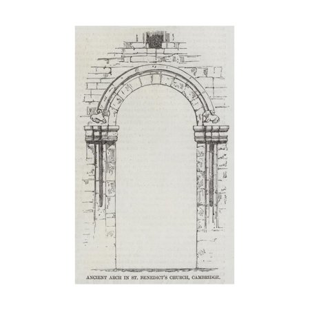 - Ancient Arch in St Benedict's Church, Cambridge Print Wall Art