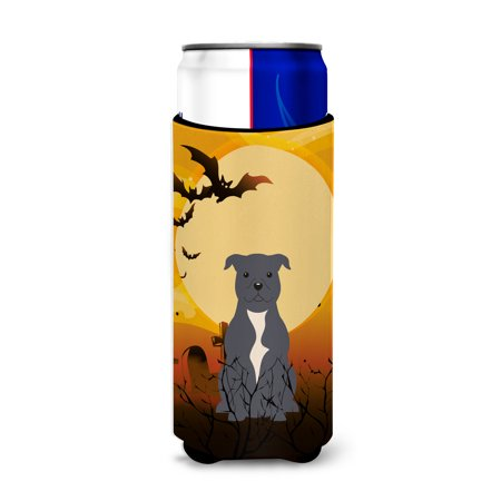 Staffordshire Cottage (Halloween Staffordshire Bull Terrier Blue Michelob Ultra Hugger for slim cans BB4312MUK)