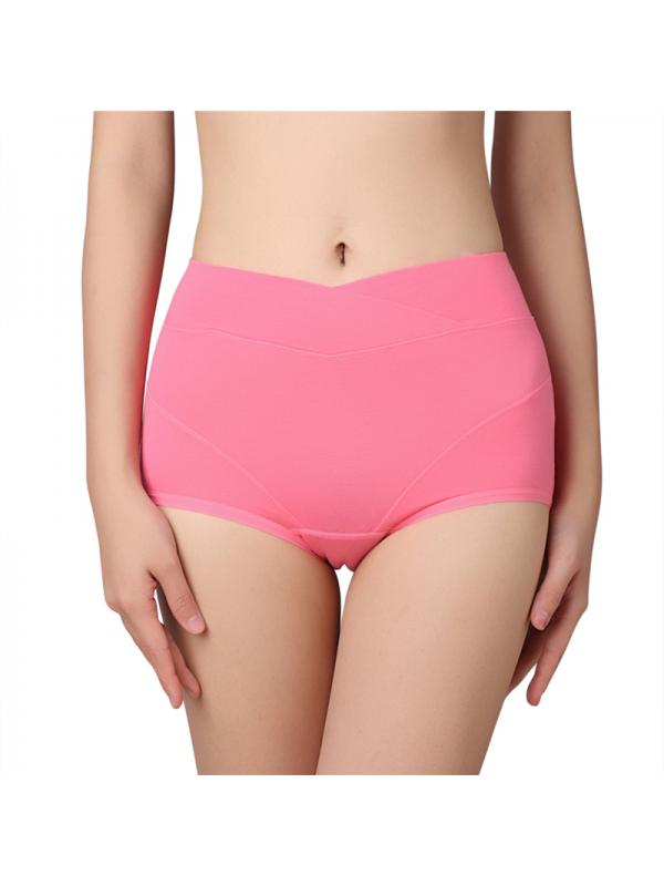 Ropalia Women Menstrual Period Panties Cotton High Waist Underwear Leakproof Briefs