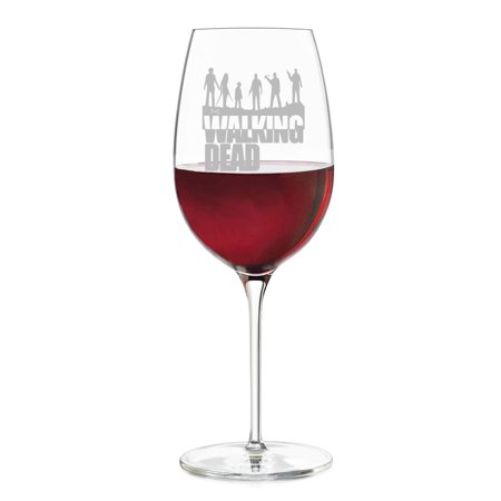 Walking Dead Engraved Wine Glass (Engraved Crystal Wine Glasses)