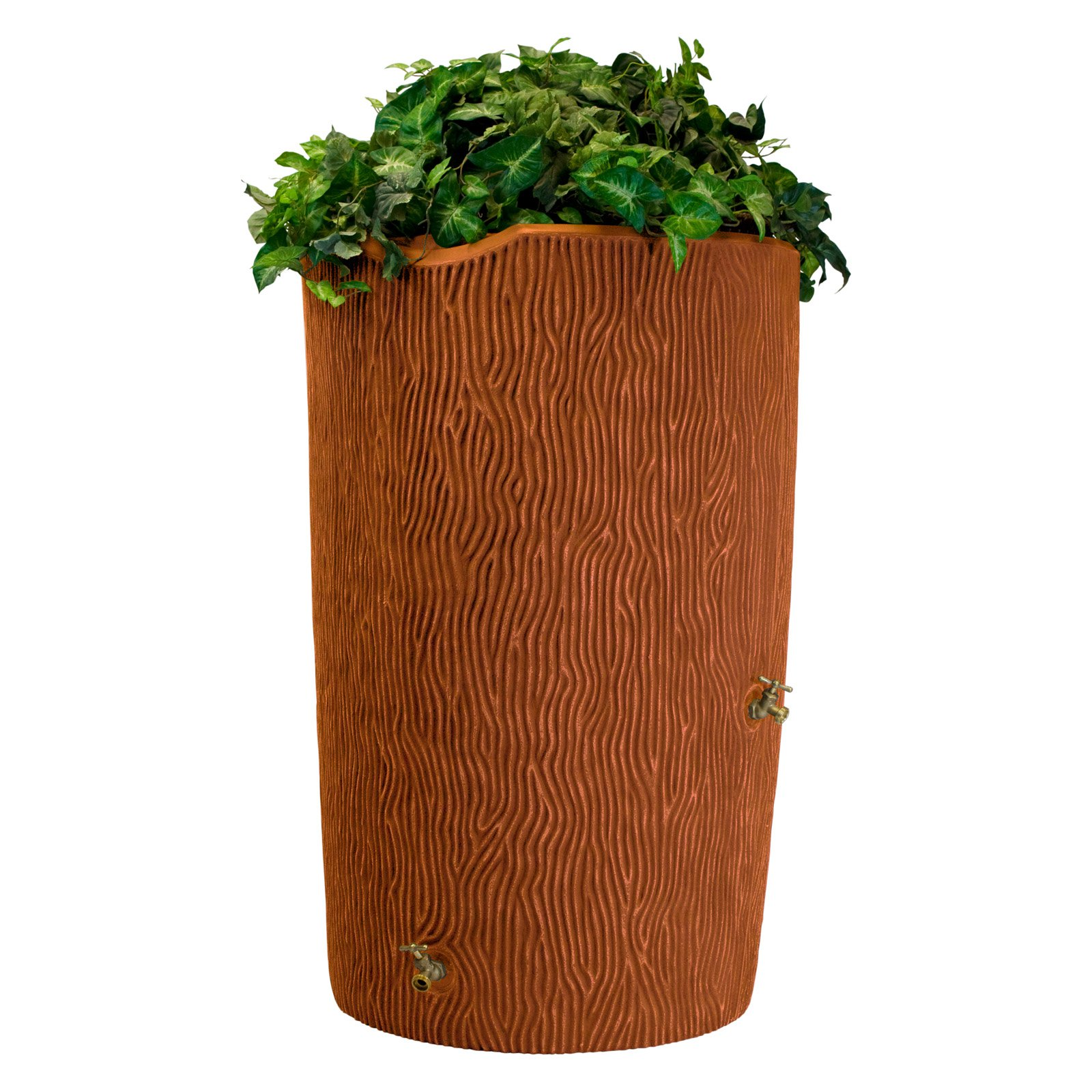 Impressions 90-Gallon Bark Rain Saver, Terra Cotta