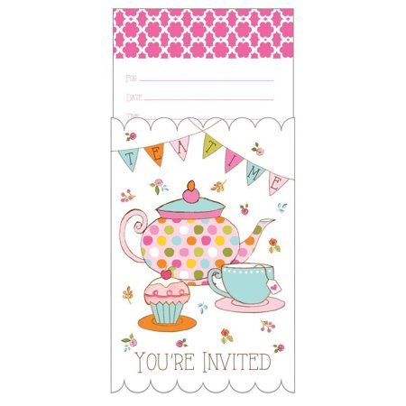 Tea Time Birthday Party Invitation, Pop-Up, 8