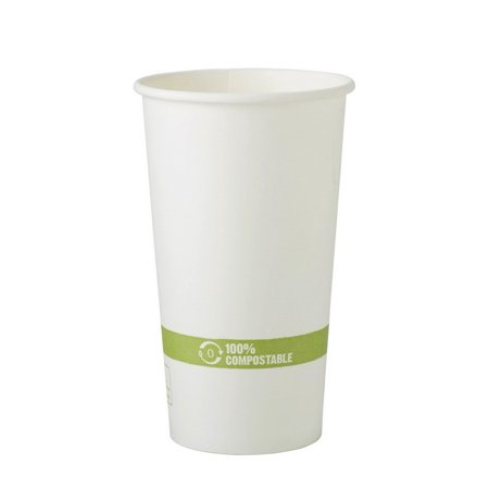 (Price/Pack)World Centric CU-PA-20 20 oz Hot Cups - Paper - Fsc Mix -  Compostable