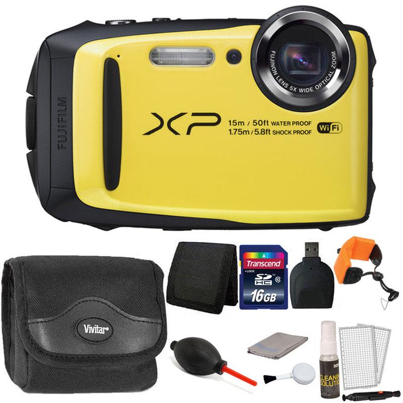 Fuji XP90 16.4MP Waterproof Digital Camera with 32GB Acce...