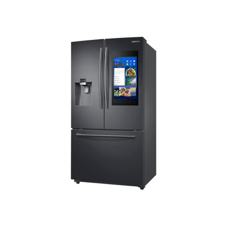 Samsung Family Hub RF265BEAESG - Refrigerator/freezer - freestanding - Wi-Fi - width: 35.7 in - depth: 35.6 in - height: 70 in - 24.2 cu. ft - french style with ice & water dispenser - black stainless steel with built-in 21.5u0022 media center