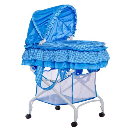 Dream On Me Layla 2-In-1 Bassinet To Cradle, Blue