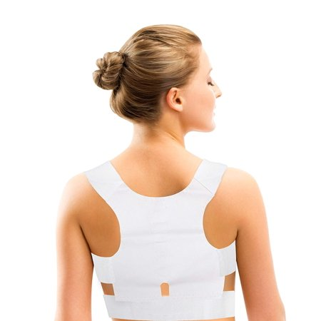 Magnetic Posture Corrector Pro Therapeutic Back Brace (White)