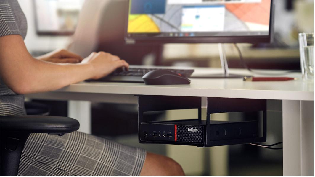 Lenovo ThinkCentre M710q Tiny Desktop Computer Pentium G4560T 4GB 500GB W10P