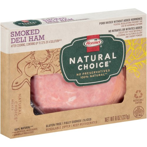 Hormel Natural Choice Sliced Smoked Deli Ham, 8 oz