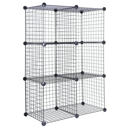 J S Hanger Black Wire Storage Cubes Set Of 6 Clothes