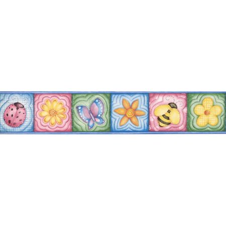 Jelly Bugs Border - Zoomie Kids Anglers Park Flowers Bee Ladybug Butterfly Frame Wall Border