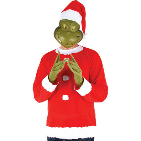 Dr. Seuss Grinch Adult Costume - One Size - Halloween Grinch Cartoon