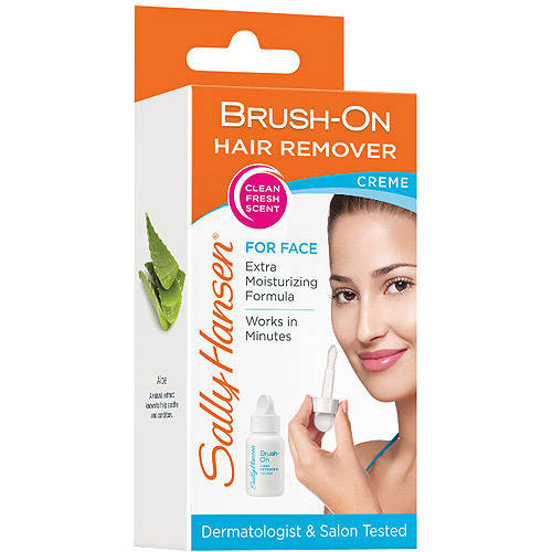 Sally Hansen Brush-On Hair Remover Creme For Face, 1.7 oz