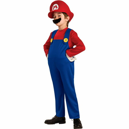Super Mario Bros. Mario Deluxe Child Halloween Costume - Halloween Costumes Mario