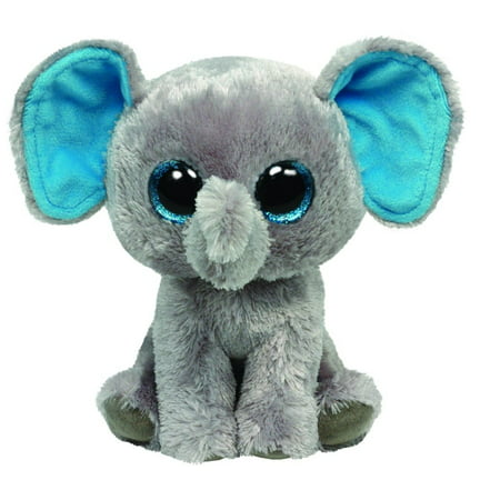 "TY Beanie Boos - Peanut the Gray Elephant (Glitter Eyes) Small 6"" Plush"
