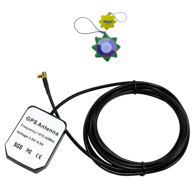 HQRP External GPS Antenna for Garmin StreetPilot c310 (010-00401-31) / c320 (010-00401-00) / C330 Vehicle GPS Navigator (010-00401-10) + HQRP UV Meter