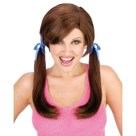 Cheap Date Brown Wig Adult Halloween Accessory](Halloween Date Nz)