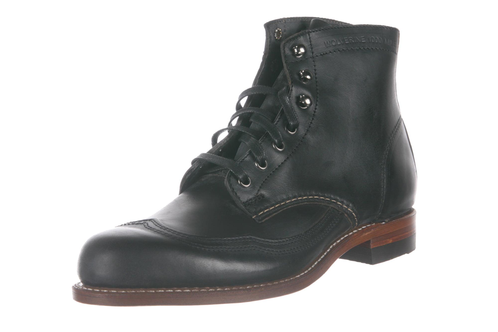 271d7881b34 Wolverine W05342: 1000 Mile Men's Brown Addison Wingtip Boots (9.5 D(M) US  Men)