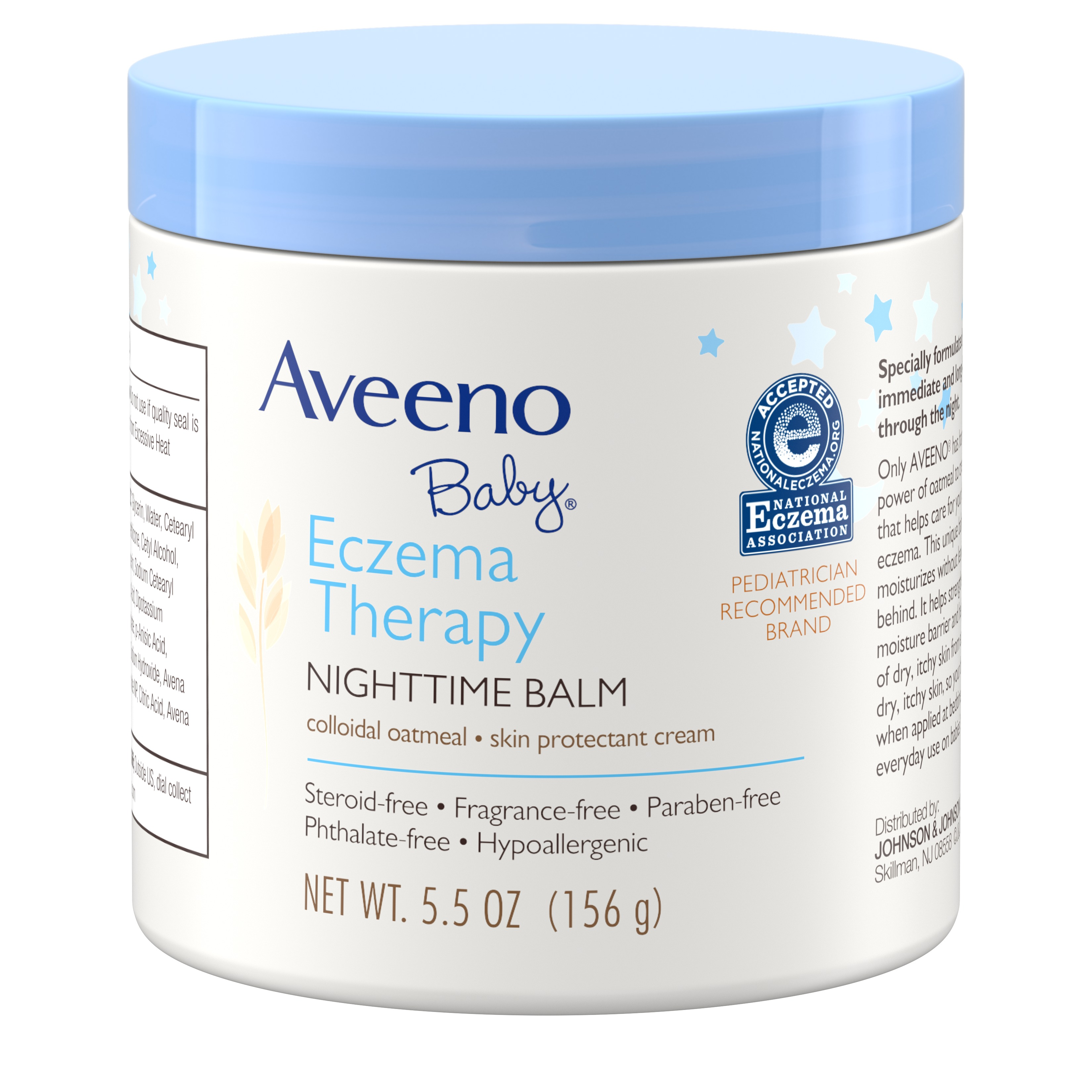 Aveeno Baby Eczema Therapy Nighttime Balm with Natural Oatmeal, 5.5 oz