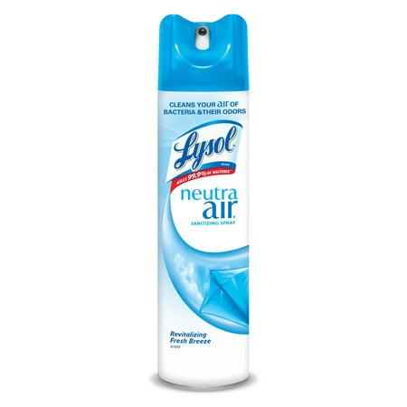 (3 pack) Lysol Neutra Air Sanitizing Spray, Fresh Breeze, 10oz, Air Freshener, Odor