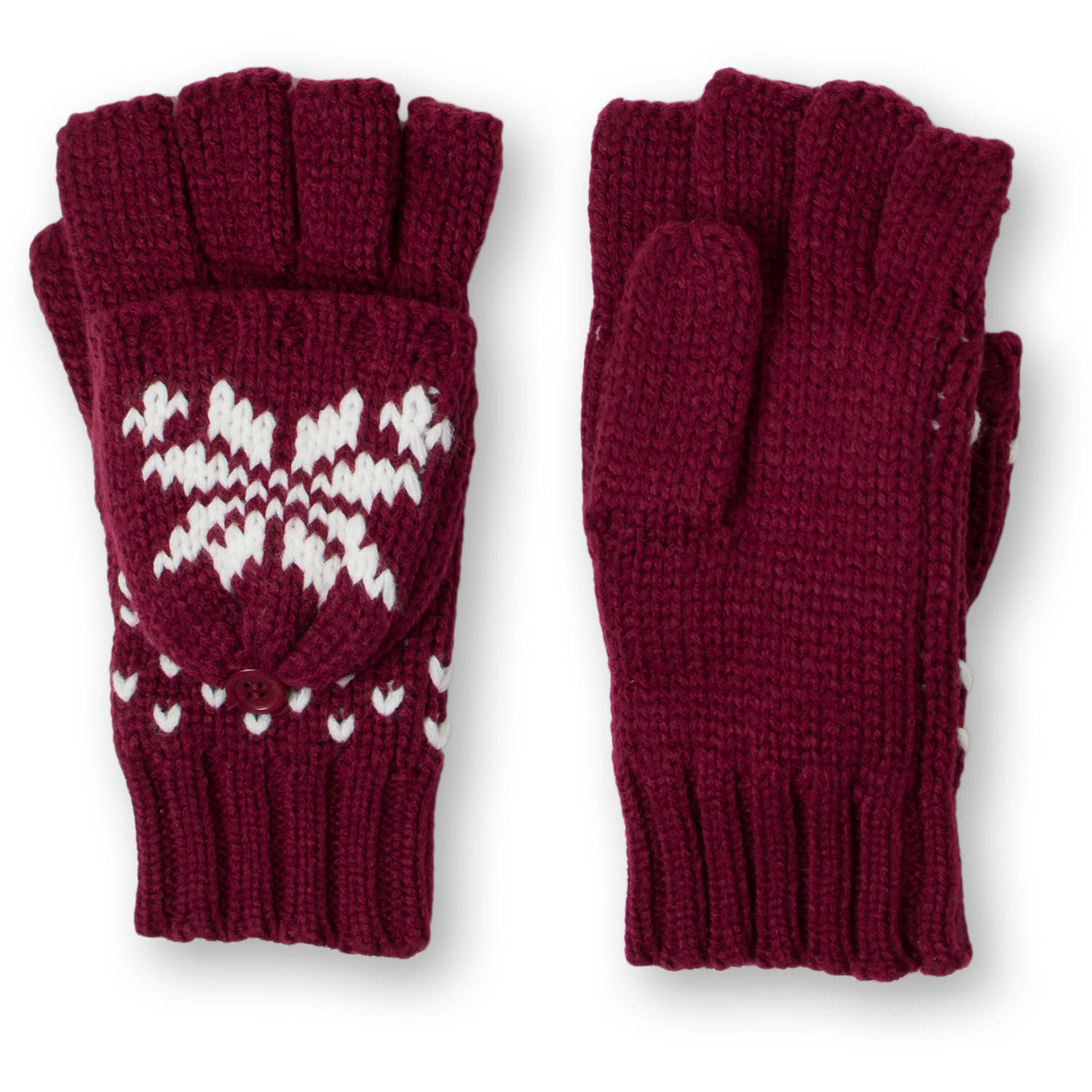 Faded Glory Women's Fair Isle Pop Top Glove