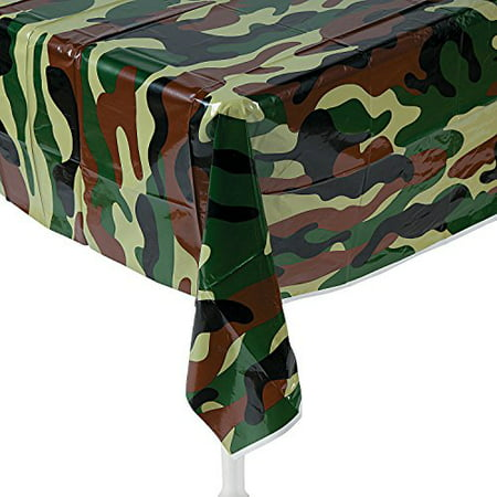 Camouflage Table Cover Plastic (Camouflage Plastic Tablecloth 54