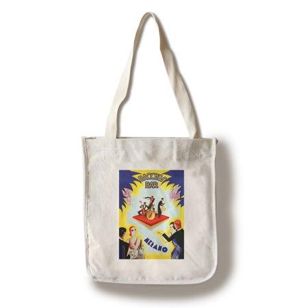 Bacchus Bar Vintage Poster (artist: Romoli) Italy (100% Cotton Tote Bag - Reusable)