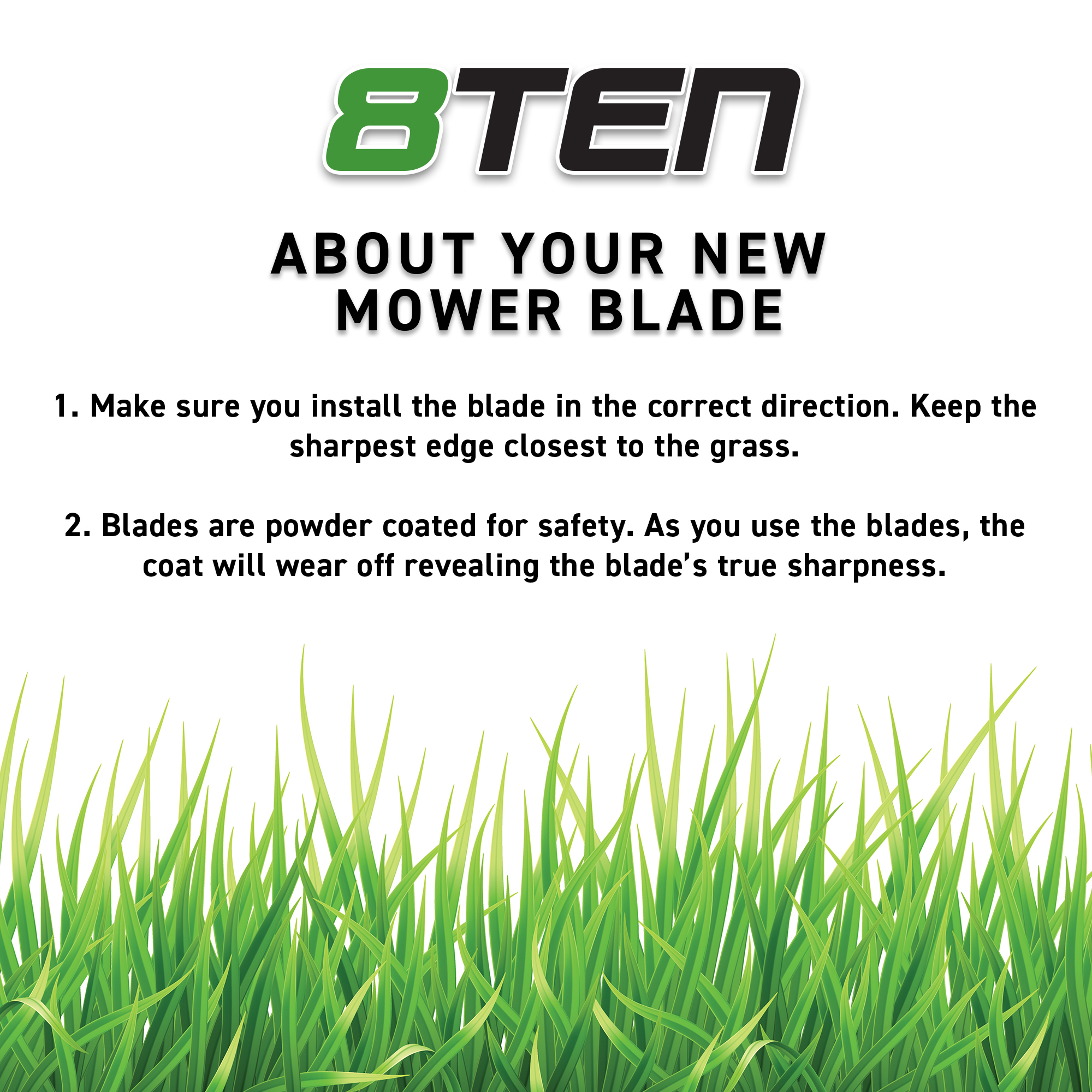 8TEN Mower Blade Toro 14-1659 14-9419 75-9420 91-2256 91-2256-03 Hi-Lift 3 Pack