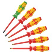 Assorted Insulated Screwdriver Set,  Multicomponent,  Number of Pieces: 6